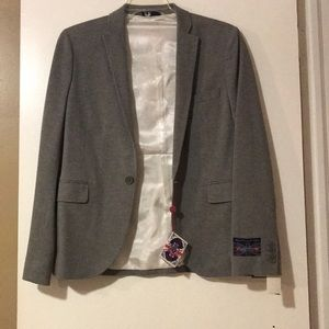 Men's Grey Blazer— New with tags